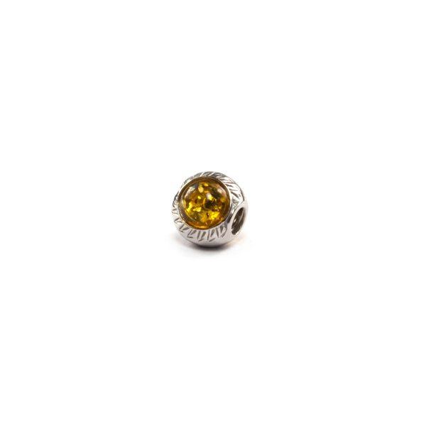 Yellow Amber charm beads