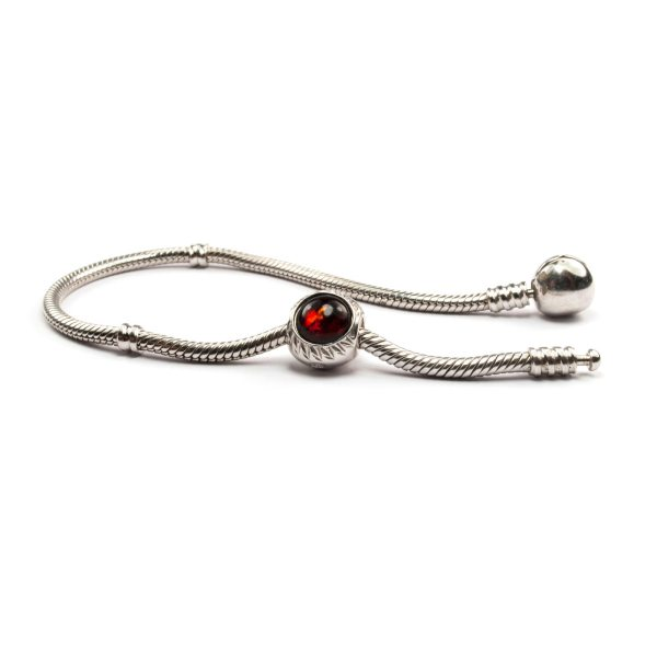Cherry Amber Charm Beads with Bracelet