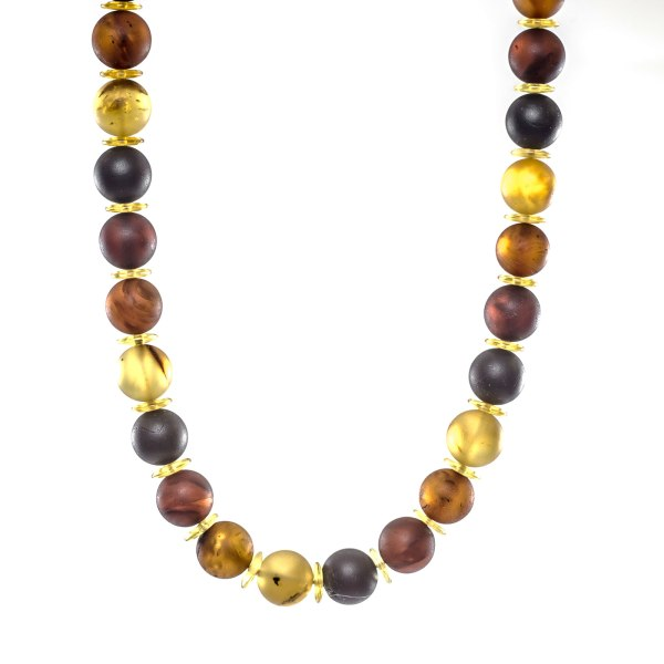 amber necklace colored