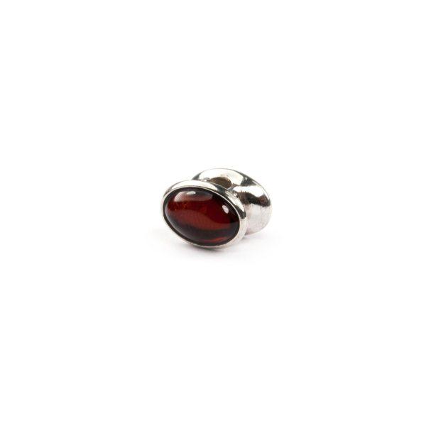 Pandora Style Bead with Cherry Amber