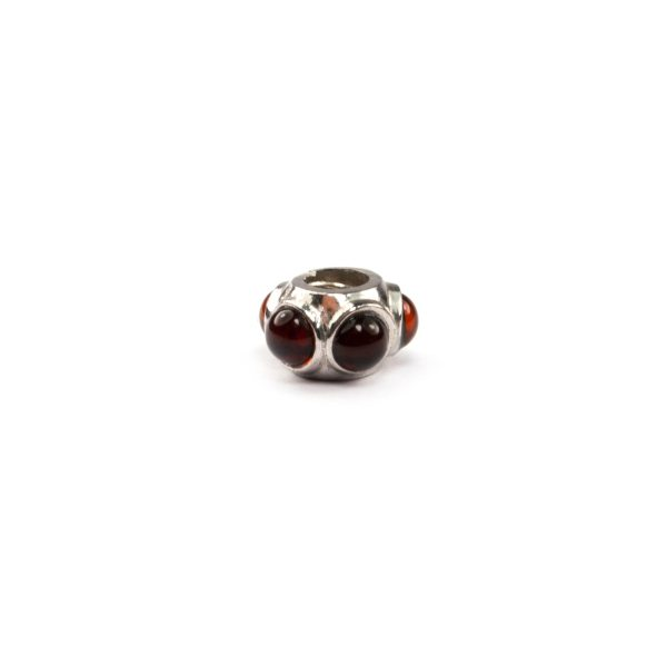 Silver Charm with Cherry Amber