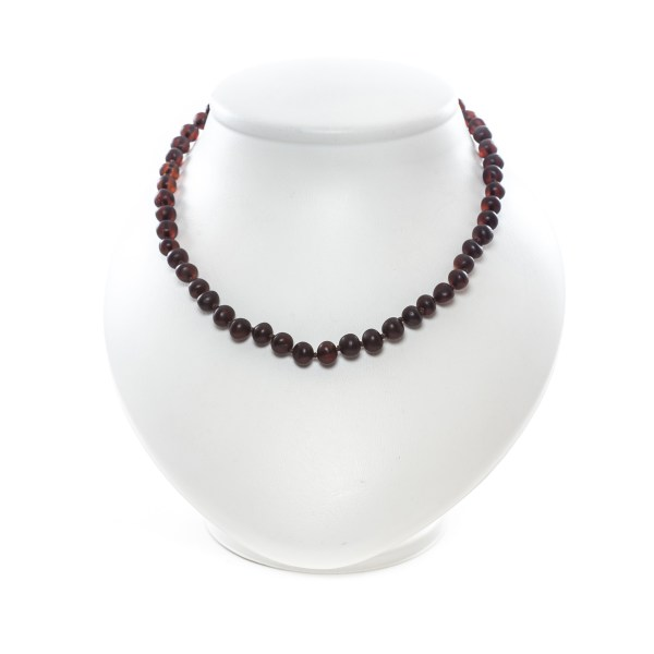 Cherry Beads Necklace on Stand