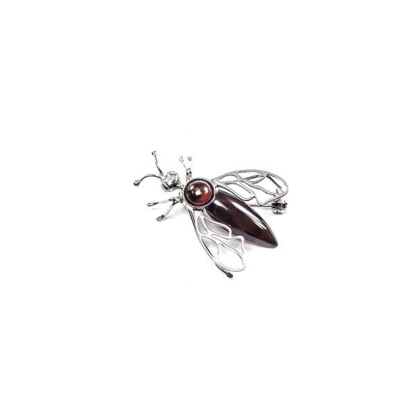 Amber Fly Brooch Top