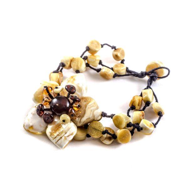 Wicker amber bracelet