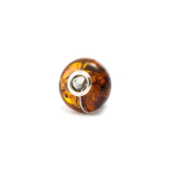 Pandora Style Cognac Amber Bead