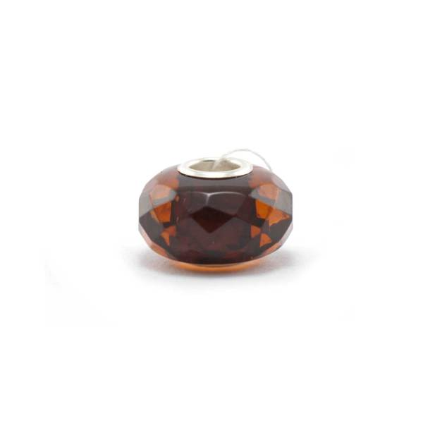 Amber Charm Cherry Faceted Bead Side 2