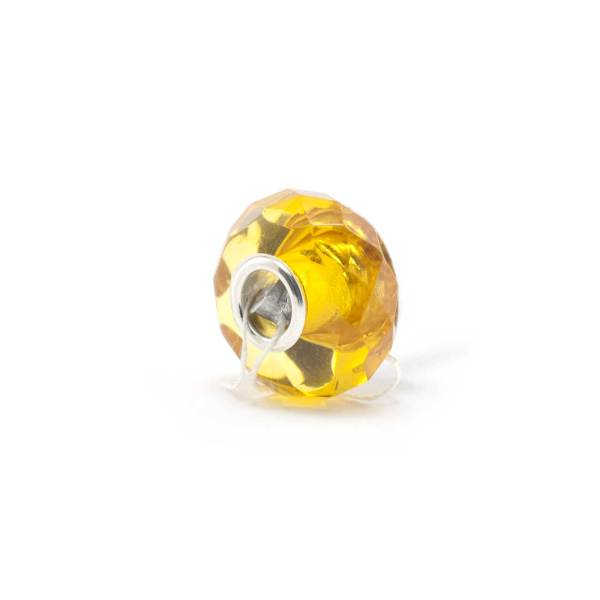 Amber Charm Yellow Faceted Bead