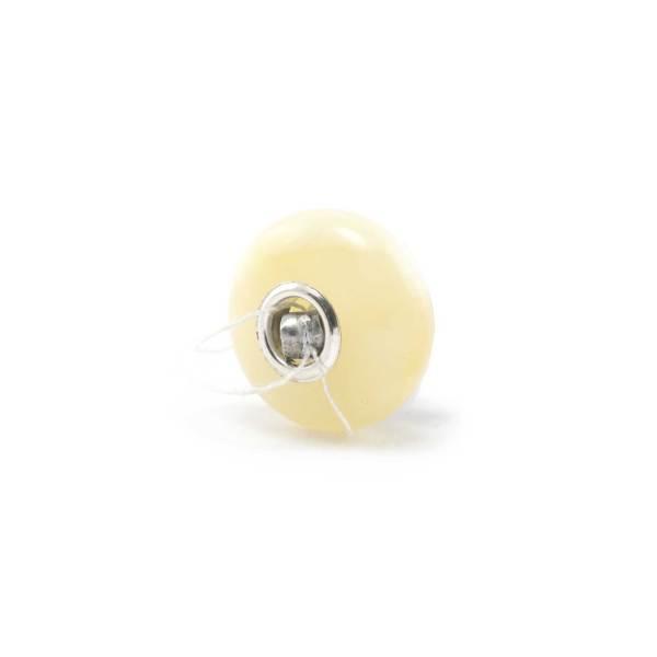 White Amber Charm Bead