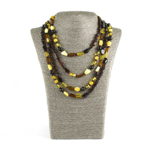 Long Beads Natural Amber Necklace