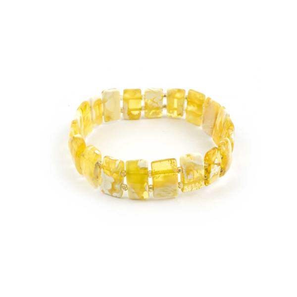 Yellow Natural Baltic Amber Bracelet