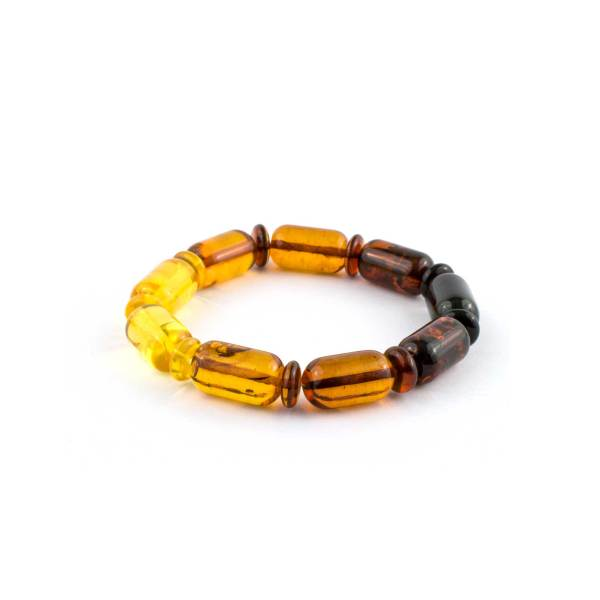 Multicolor Amber Bracelet Rainbow Beads