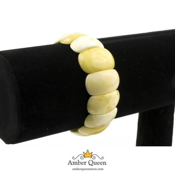 Butterscotch Amber Bracelet on Stand