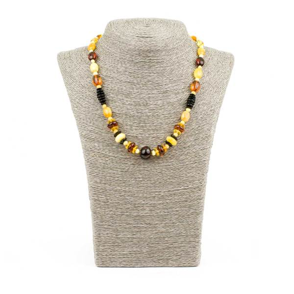 Multi Color Composited Beads Amber Necklace