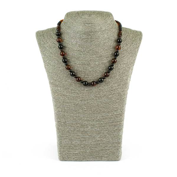 Cognac and Cherry Colors Amber Necklace