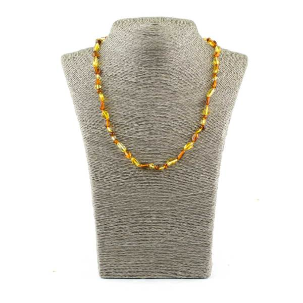 Small beans beads amber necklace