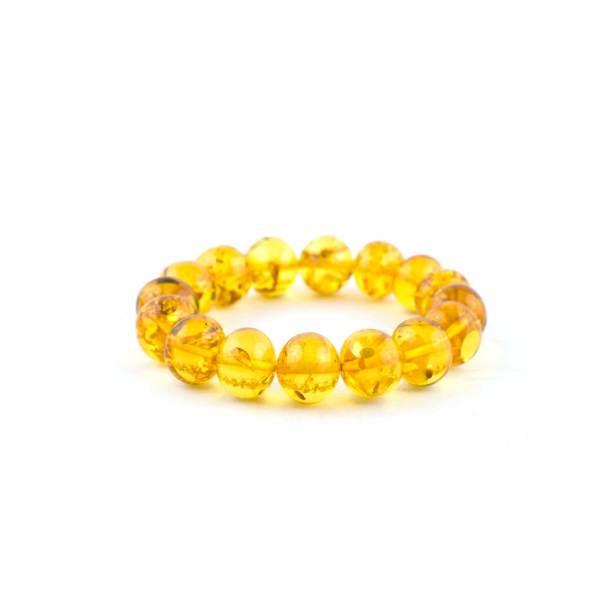 Yellow Baroque Amber Bracelet