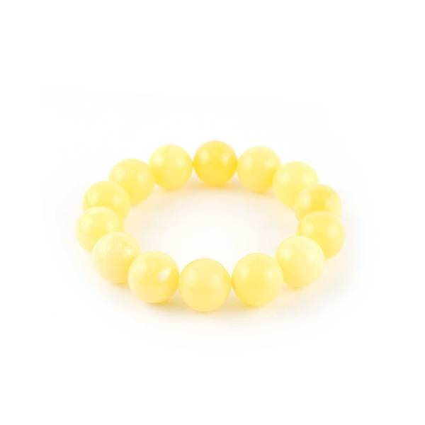 White Matte Amber Bracelet