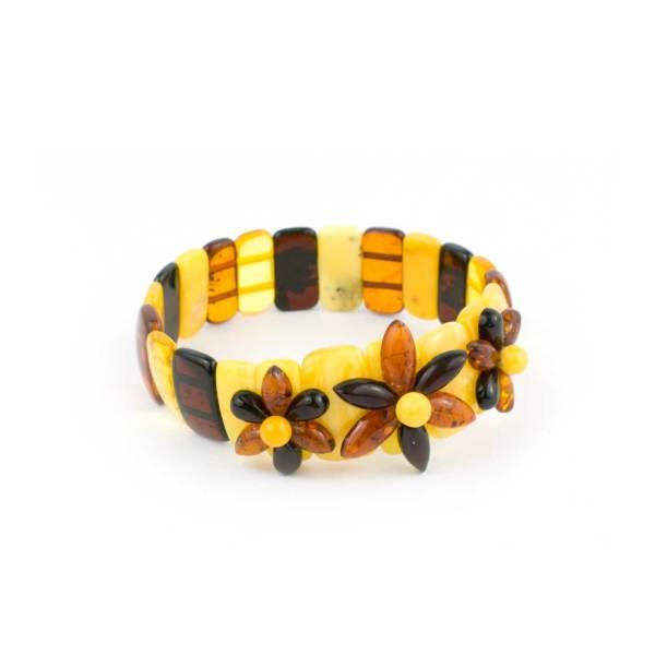 Multicolor Strech Amber Bracelet