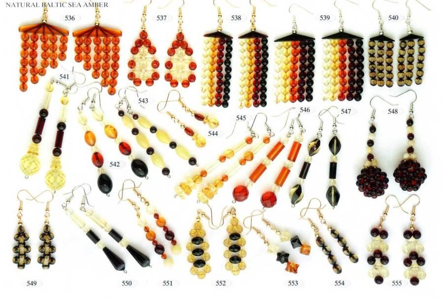 536-555 gintaro auskarai