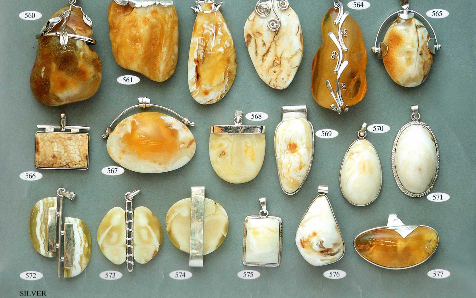 Gold and Silver with Amber | Amber Jewelry Wholesale Supply