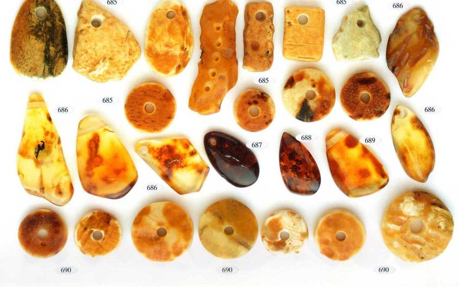 amber pendants small