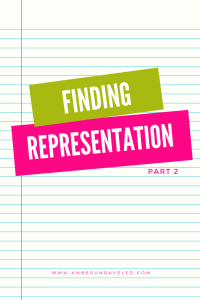 finding representation – part 2