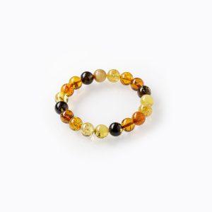 Prabangi apvalaus gintaro apyrankė 10mm, Luxurious round amber bracelet 10mm
