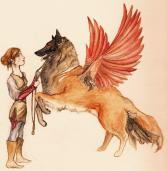 Fall 2010. Toying around with the idea of mixing dog breeds and different birds. I actually ended up using a variant of this concept in my book.