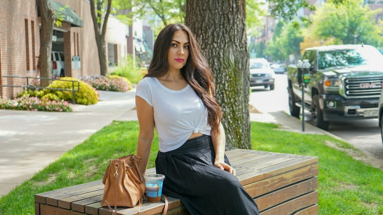 WHITE TEE WITH A MAXI SKIRT OOTD