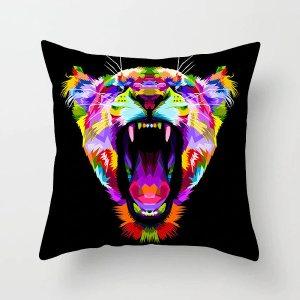 Housse de coussin tigre