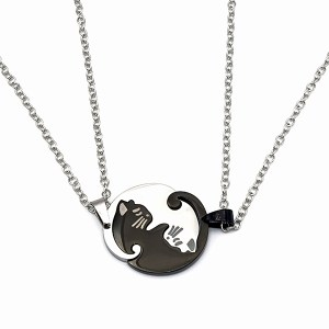 Collier chat duo rond