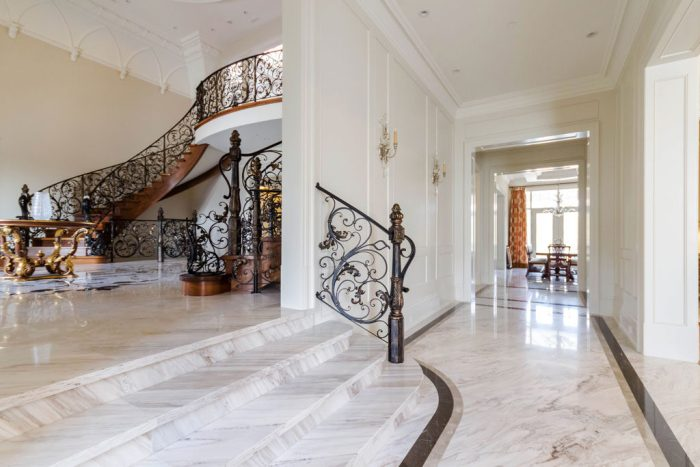 Chateau Inspired Custom Home - Entrance Foyer