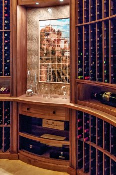 Chateau Inspired Custom Home - Wine Cellar - Custom mural