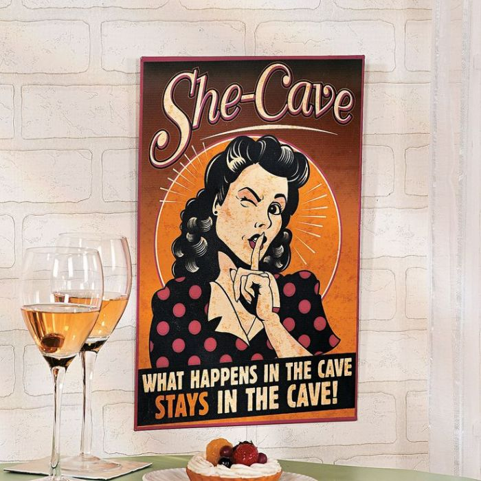 "MAKE ROOM PROVERBIAL MAN CAVE FOR THE ""WOMEN CAVE"""
