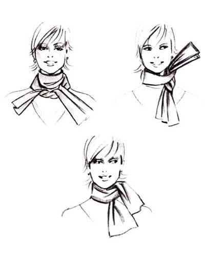 Hvordan knyte sjalet ditt