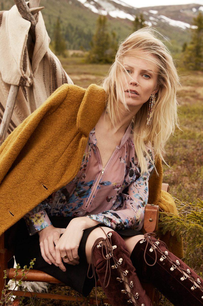 Silkebluse med glidelås Katrin Uri - 414 Pink hour zip bluse