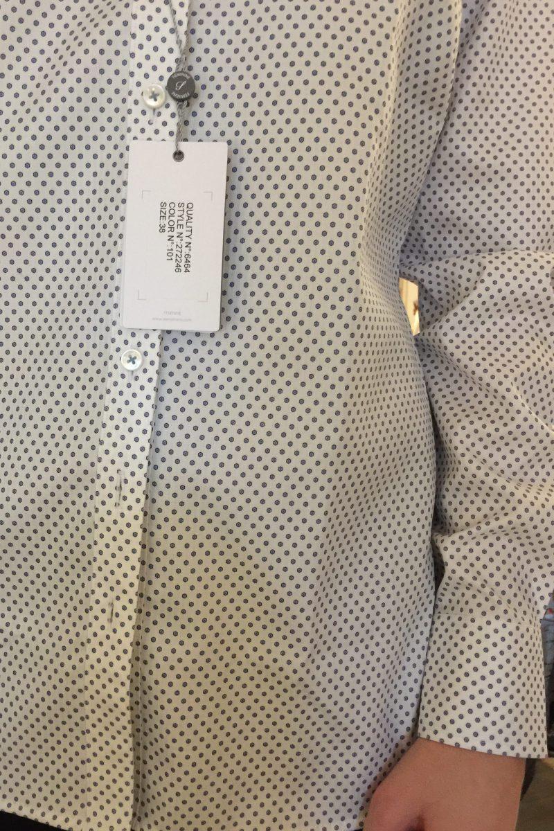 Offwhite bomullsbluse med dots Stenstrøms - 272246 6464