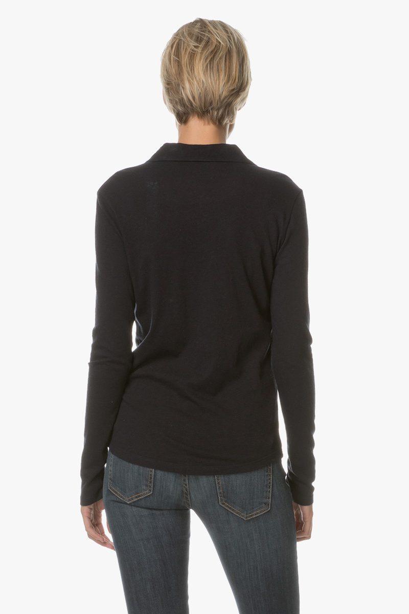 Ecrumelert skjorte med brystlommer i viskose Majestic Filatures - H17 01 22