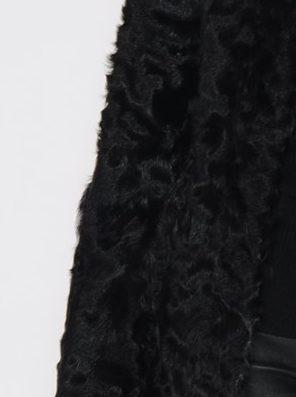 Sort pelskåpe i kalgan lamb CKN - 3375 latifa