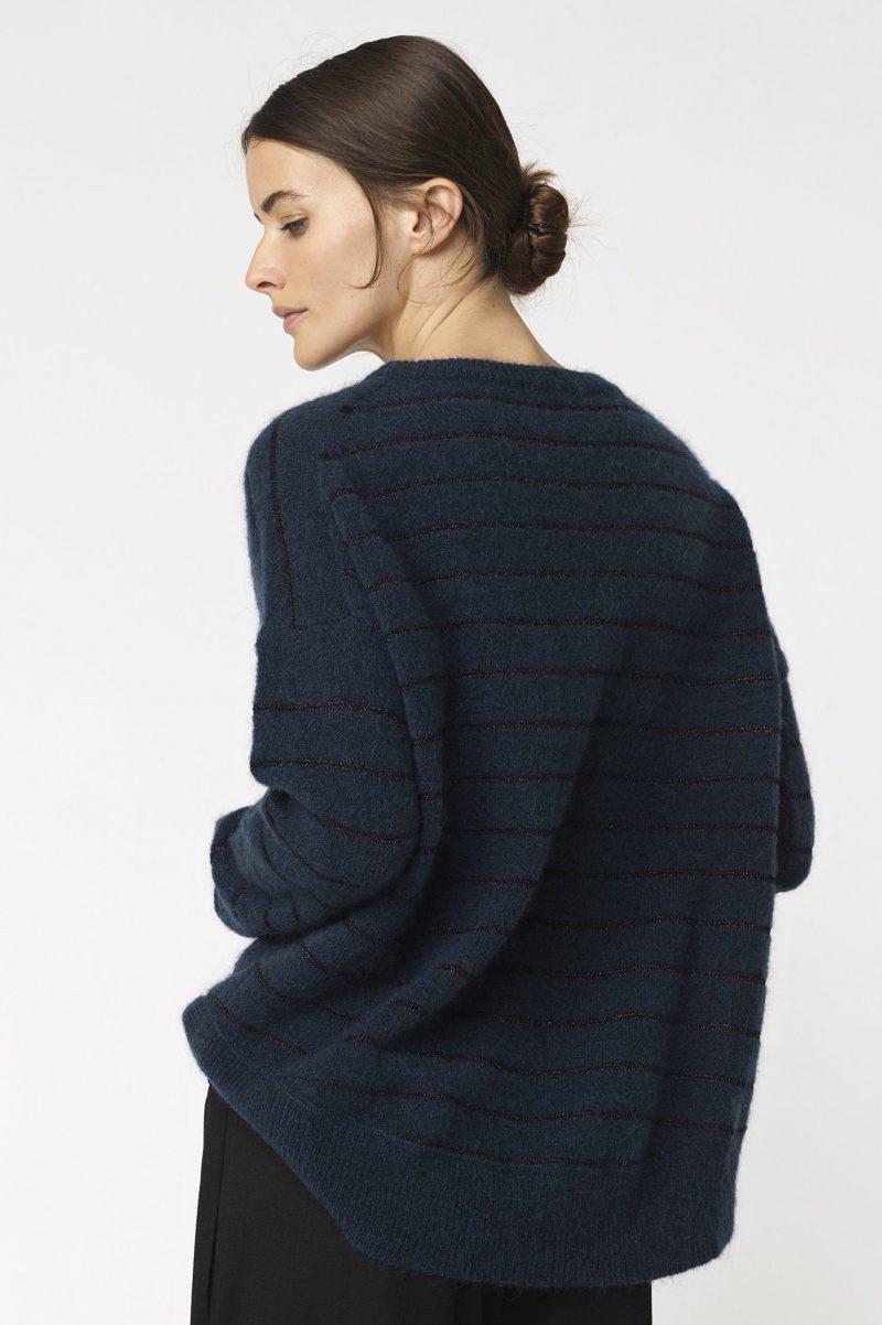 Blå eller koksmelert kidmohair genser By Malene Birger - ANDOLES SWEATER