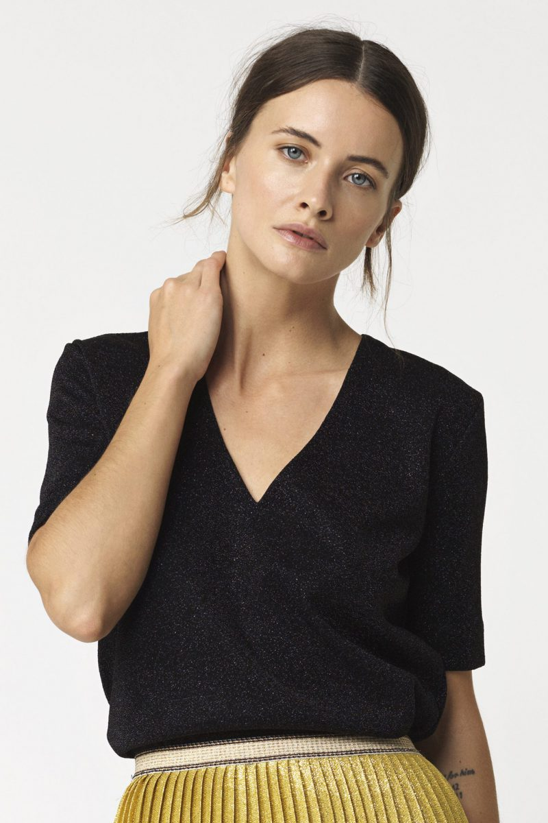 Sort glittertopp By Malene Birger - GLIITASIS TOP