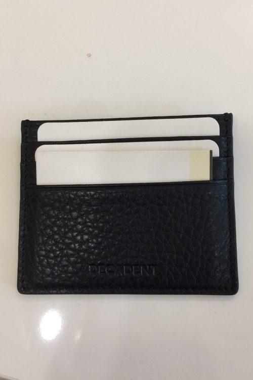 Sort (i krinklet flotterkvalitet) kredittkortholder Decadent - 267 isla cardholder