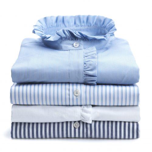Hvit volangkantet bomulls bluse Stenstrøms - 281226-6537-000