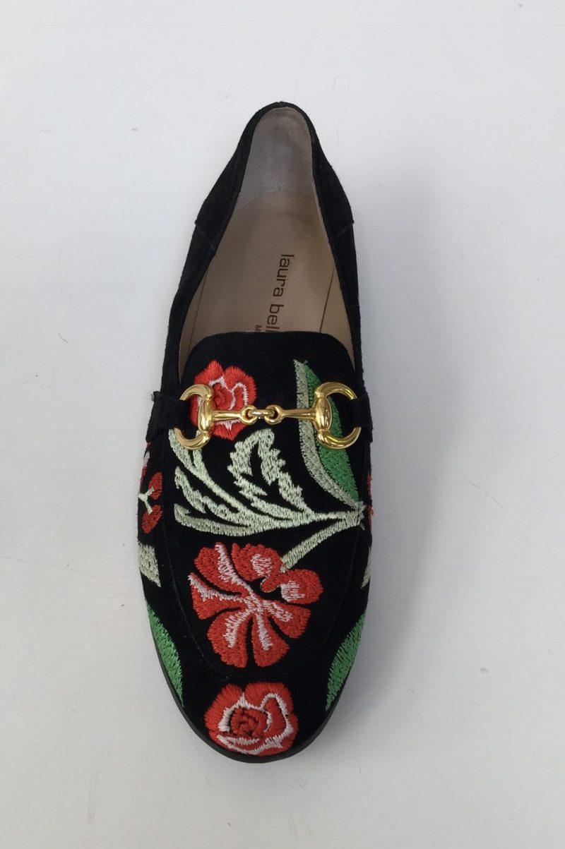 Sort med rødt broderi 'Gucci' mokkasin Laura Bellariva - 1140