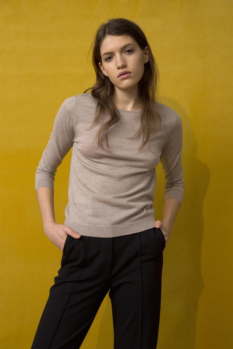 Taupe melange evening sweater Cathrine Hammel - 116.118 evening sweater