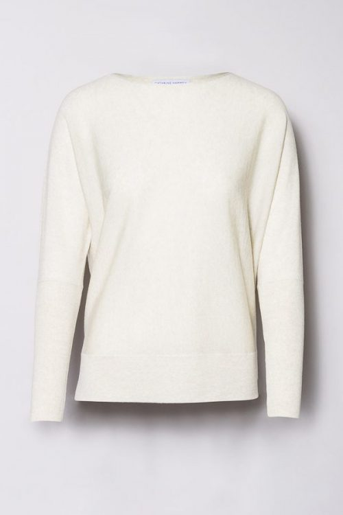 Offwhite melange short wide crewneck Cathrine Hammel - 101.118 short wide crewneck