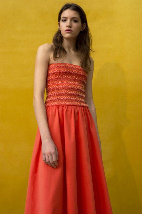 Korallrød tubekjole Cathrine Hammel - 425.118 smock dress