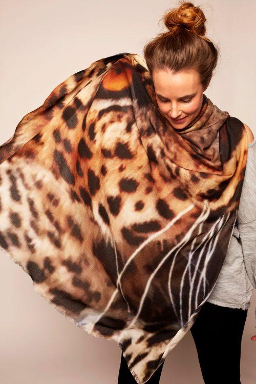 "'Natural instinct"" skjerf Katrin Uri i cashmere/ull/bomull - 969 natural instinct"