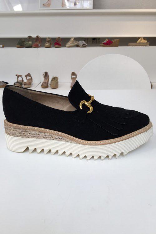 Sort semsket sko med gucci-spenne Laura Bellariva - 1081