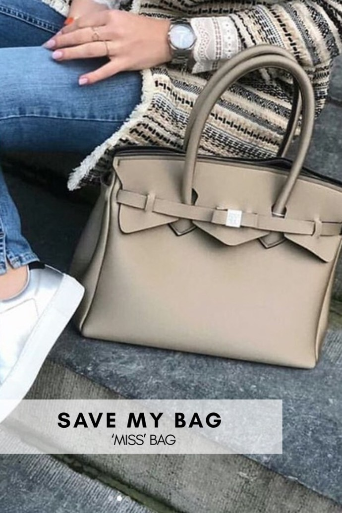 Orange, sort eller beige metallic veske i neopren Save My Bag - Miss